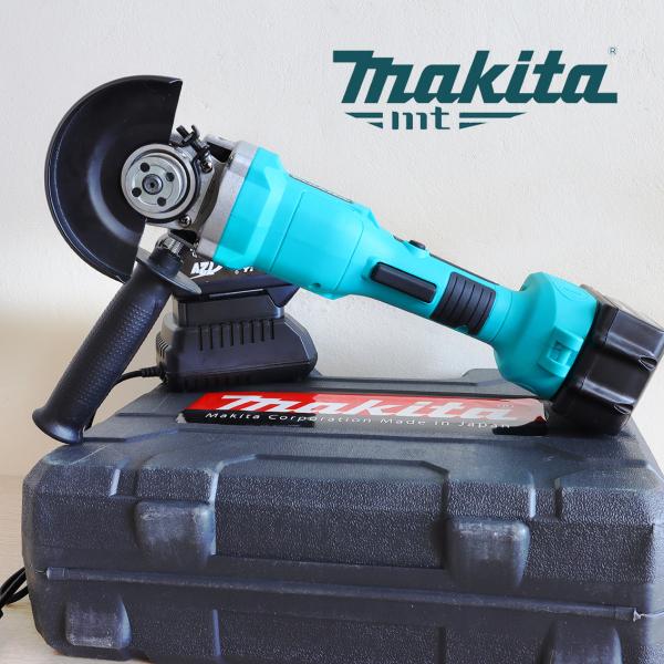 Máy mài Makita - Lõi đồng - Máy mài cầm tay -  Không chổi than - Máy cắt dùng pin - máy cắt đa năng [CÔNG TẮC CÒ BÓP]