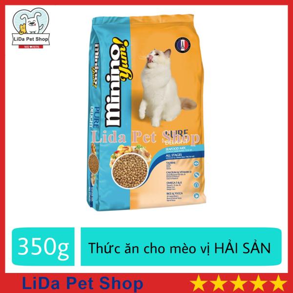 HN- Thức ăn vị hải sản dành cho mèo mọi lưa tuổi - thức ăn cho mèo minino yum 350g - Lida Pet Shop