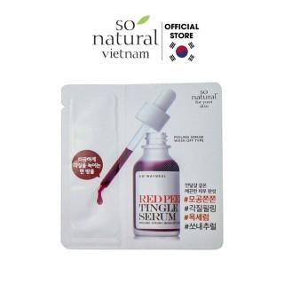 Tinh Chất Red Peel Tingle Serum Sample Dạng Gói So Natural (2,5ml) thumbnail