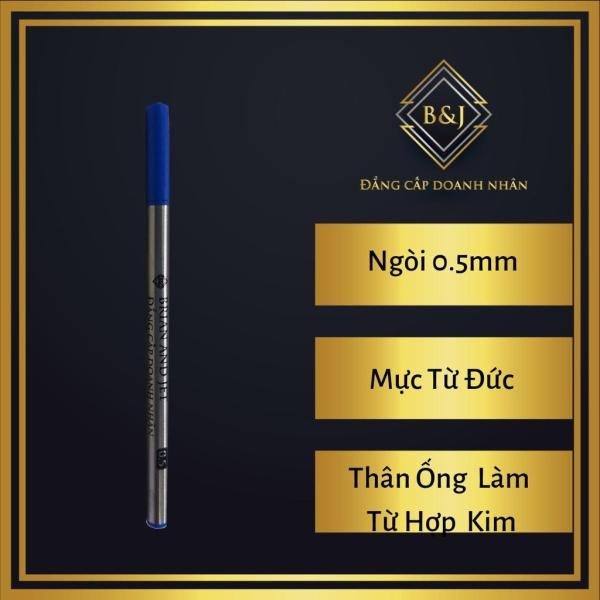 Mua B&J  - Combo 6 Ruột (ống) mực dạ bi cao cấp B& 0.5mm thân hợp kim dùng cho bút, viết dạ bi (lông bi) - Mực Xanh