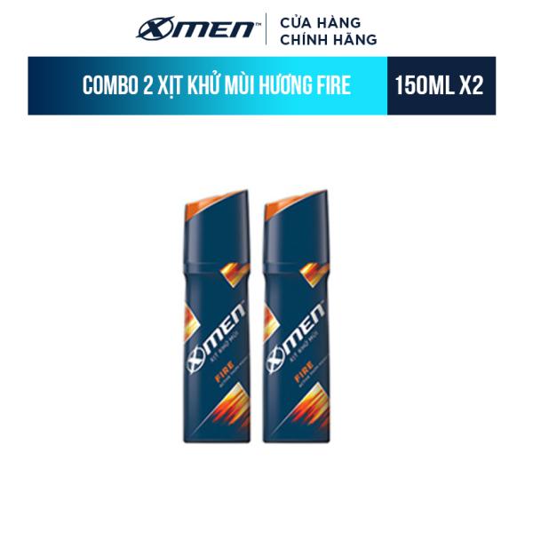 Combo 2 Xịt khử mùi X-Men Fire 150ml giá rẻ