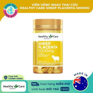 Nhau thai cừu-Viên uống Nhau Thai Cừu Healthy Care Sheep Placenta 5000mg Exp10 2023 [Cải thiện nám, tàn nhang, làm mờ các vết nám và vết thâm thu nhỏ lỗ chân lông, điều tiết chất nhờn cho làn da] (được bán bởi Siêu Thị Hàng Ngoại) thumbnail