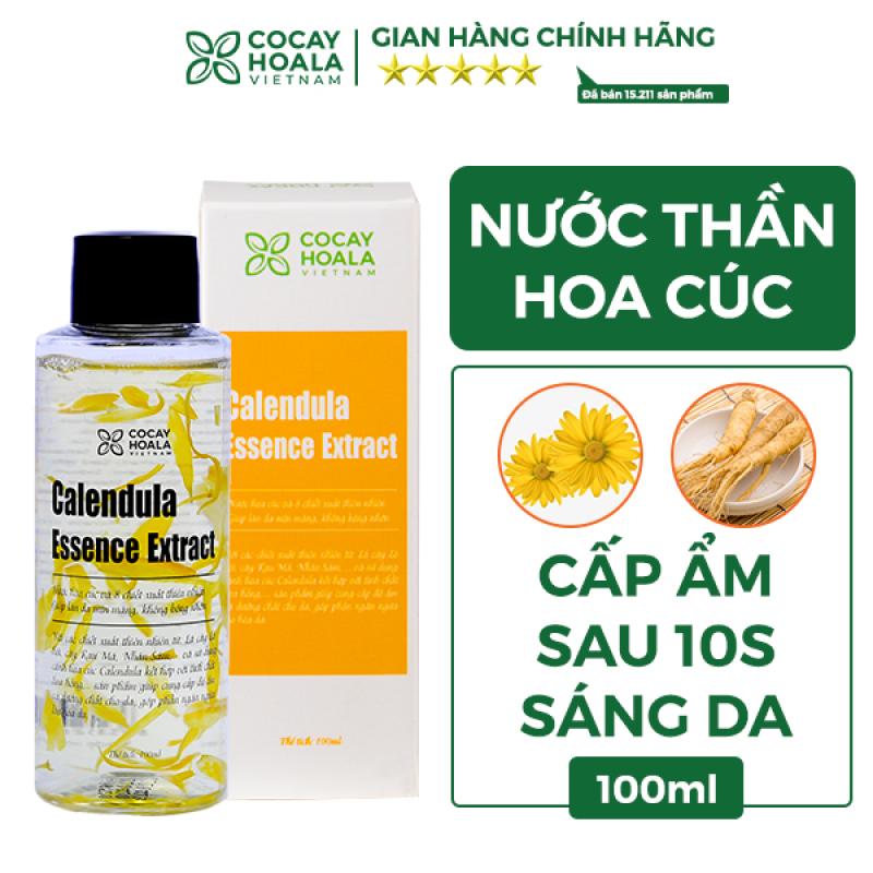 Nước thần hoa cúc 2in1 kết hợp nước hoa hồng và kem dưỡng Cocayhoala cấp ẩm tức thì, trẻ hóa làn da sau 10 ngày - Calendula Essence Extract 100ml- Hàng chính hãng nhập khẩu