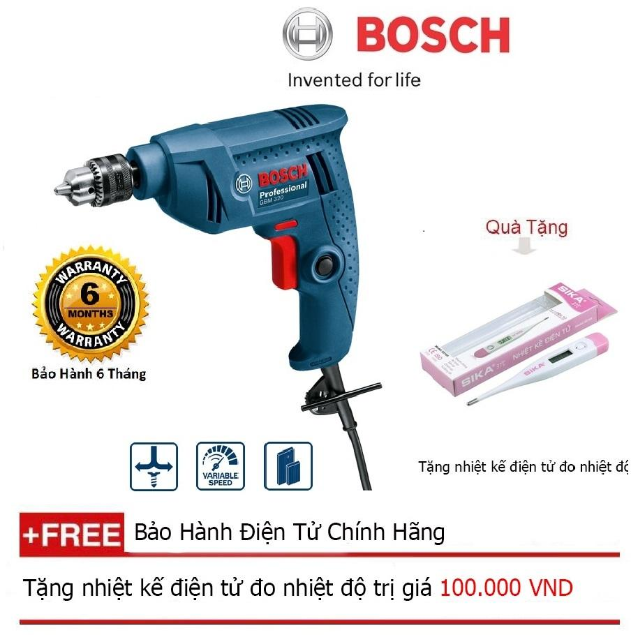 Máy khoan Bosch GBM 320 + Quà tặng nhiệt kế điện tử