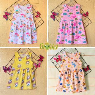 Váy ,đầm bé gái Froggy| Mẫu Sát Nách| Chất vải Thun cotton 100% mềm, xịn, đep| Quần áo trẻ em| váy bé gái