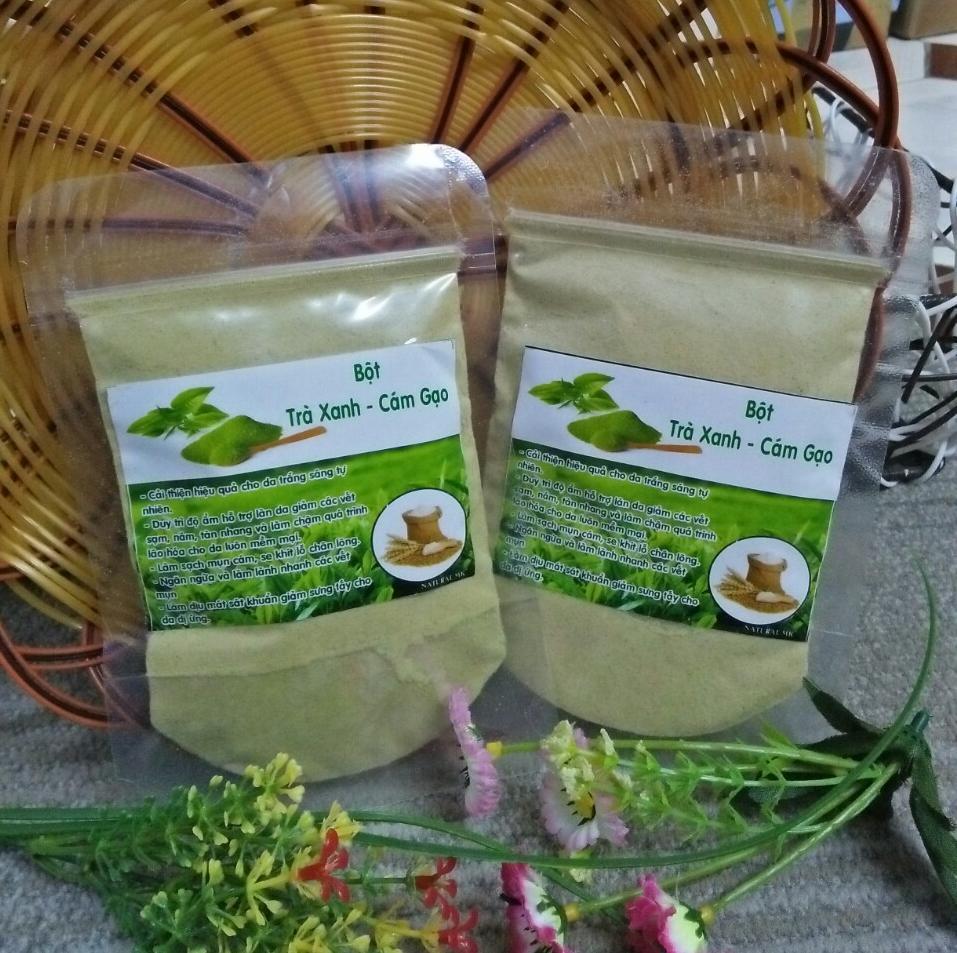 Combo 2 gói Bột cám gạo trà xanh