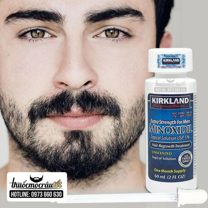 Thuốc mọc râu minoxidil 5% dạng lỏng nhập khẩu