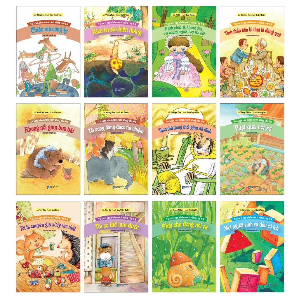 Combo 12 Cuốn T1: Bộ Tủ Sách Rèn Nhân Cách Sống Cho Trẻ