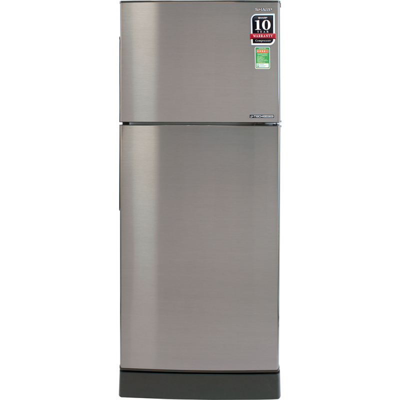 Tủ lạnh Sharp Inverter 196 lít SJ-X201E-SL - Công nghệ J-Tech Inverter máy vận hành êm ái, tiết kiệm điện Công nghệ khử mùi Nano Ag+Cu lọc sạch vi khuẩn gây hại Chế độ Extra Eco tiết kiệm điện năng tối đa
