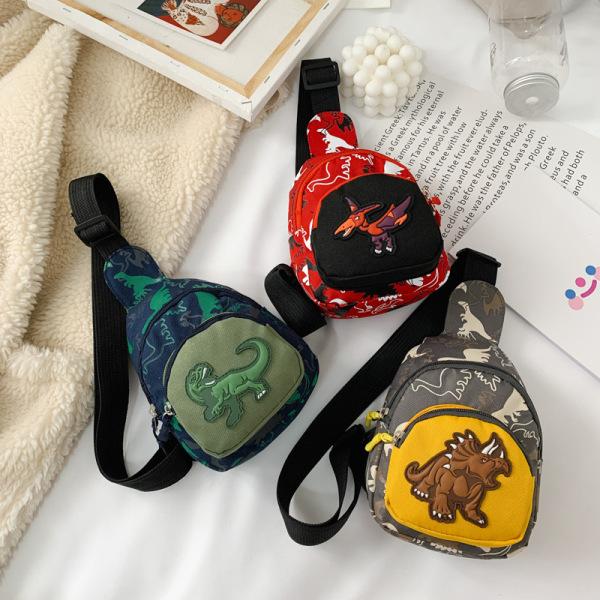Túi đeo chéo trẻ em FUHA, túi in hình khủng long thời trang cho bé trai và bé gái