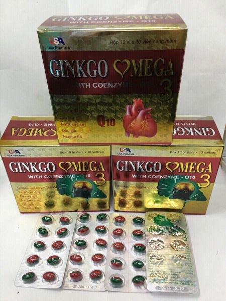 GINKGO OMEGA 3 Hoạt huyết dưỡng não 100 viên giá rẻ