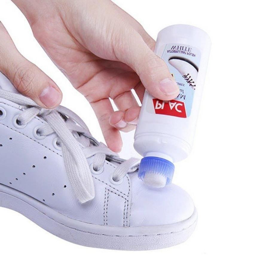 Chai Xịt Tẩy Trắng Vệ Sinh Giày Dép, Túi Xách Plac - Loại Có Đầu Chà Đa Năng Cùng Khuyến Mại Sốc