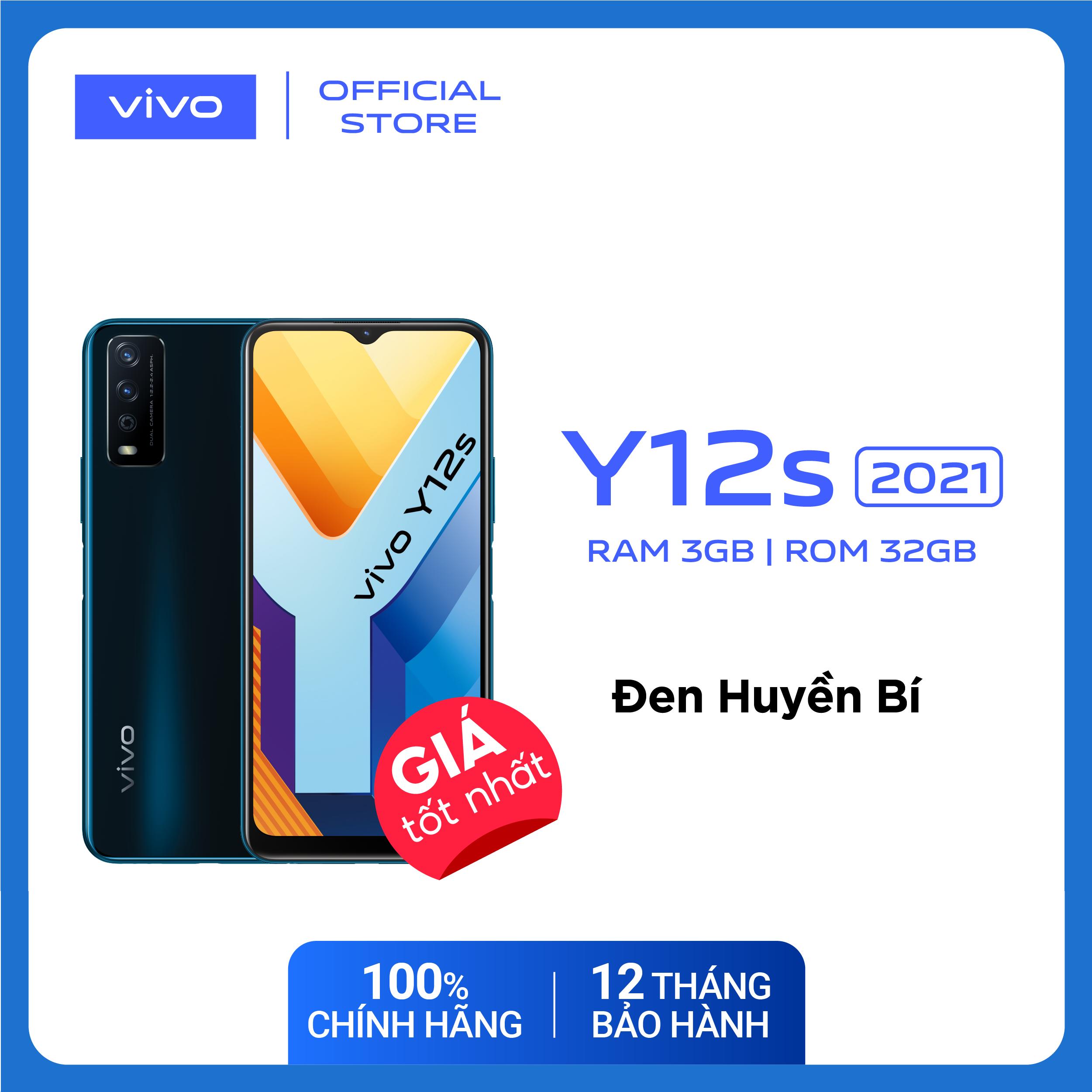 Điện thoại Vivo Y12s 2021 (3GB/32GB) - Hàng chính hãng - Bảo hành 12 tháng - Freeship