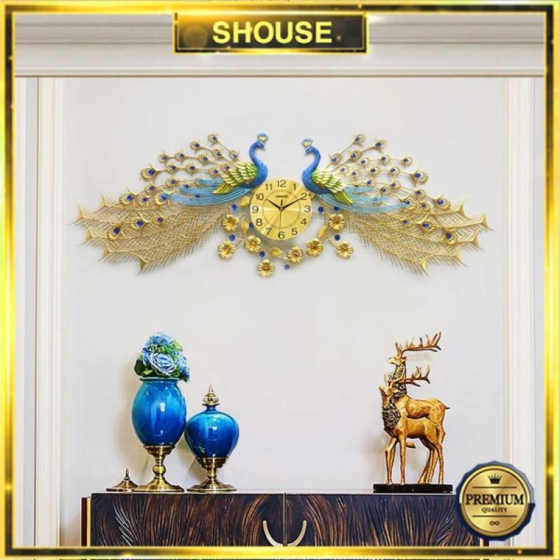 Đồng Hồ Treo Tường S-A999 Trang Trí Con Công chim khổng tước đẹp độc lạ hiện đại cao cấp cỡ lớn 3d phù hợp phòng khách, phòng ngủ bán chạy