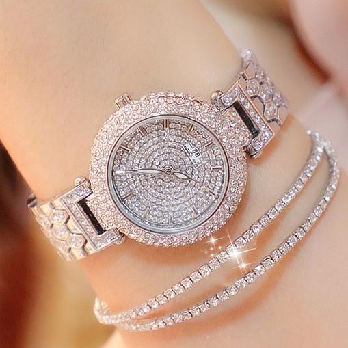 Đồng hồ nữ BS KIVER FULL  Đính hạt fhun viền + Tặng Hộp & Pin bán chạy