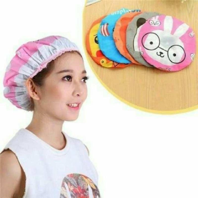 Mũ tắm chùm kute đầu dành cho nữ dùng khi tắm gội, ủ tóc, trang điểm, rửa mặt cao cấp