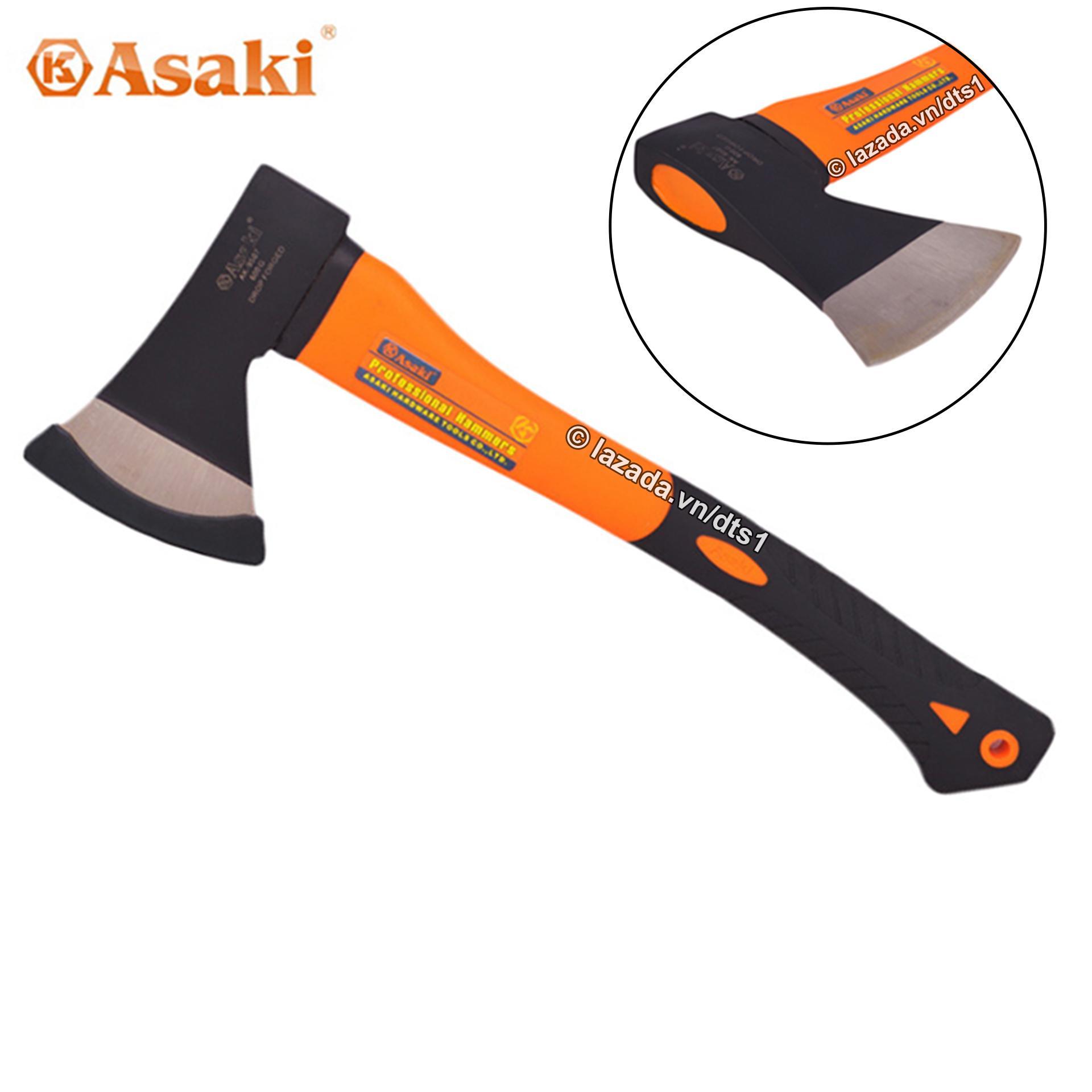 Búa Riù Asaki bổ củi, chặt cây, làm vườn, thoát hiểm, cứu hộ, dã ngoại đa năng 600G