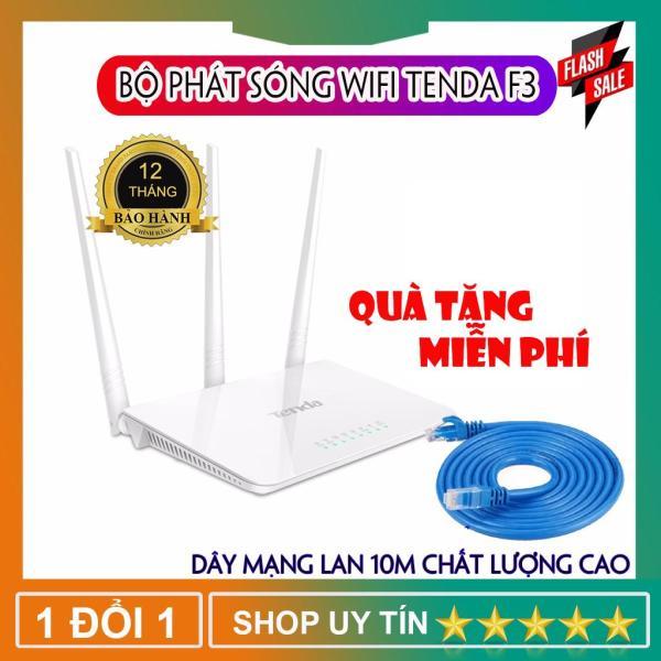 Bảng giá Bộ phát WiFi - Bộ phát WiFi Tenda F3 3 râu 300Mbps ( TẶNG DÂY MẠNG ) Có Phân Loại Tiếng Anh Phong Vũ
