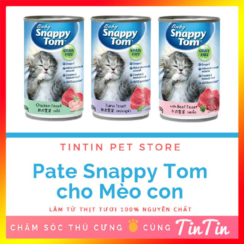 Pate Cho Mèo Con Snappy Tom  - Lon 150g