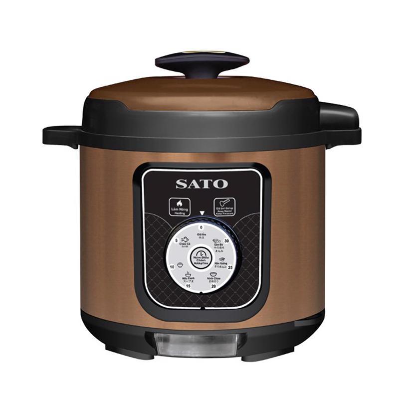Nồi áp suất cơ đa năng SATO ST-616PC (Màu nâu)