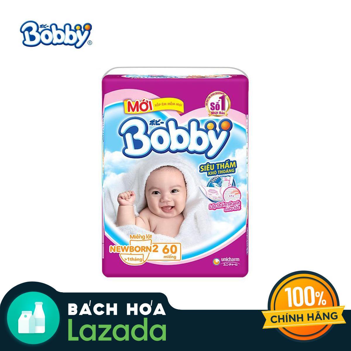 Miếng lót sơ sinh Bobby gói lớn Newborn 2-60 miếng (0-5kg)
