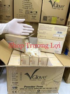 Găng tay y tế không bột Vglove polymer 1 hộp 100 chiếc - Hàng Công Ty thumbnail