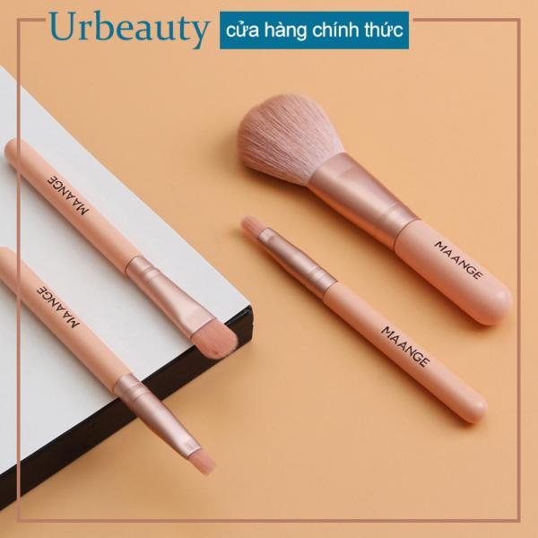 【Urbeauty】MAANGE 4 Mini Trang Điểm Bộ Mặt Phấn Nền Màu Mắt Viền Che Khuyết Điểm Di Động Du Lịch Cọ Trang điểm