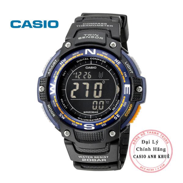 Đồng hồ Casio la bàn, nhiệt kế SGW100-2B