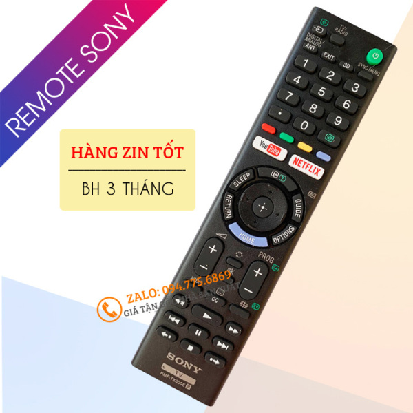 Bảng giá [Hàng Zin Tôt ] Điều Khiển Tivi Sony RMF-TX300E - Remote Tivi Sony Có Phím Tắt Youtube Và Netflix - Loại Dài