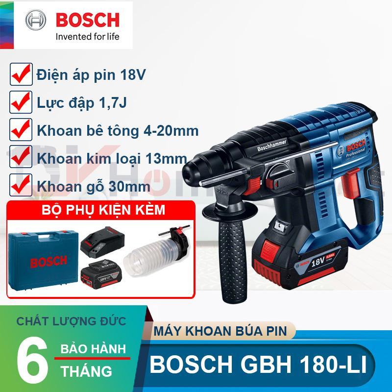 Máy khoan búa dùng Pin Bosch GBH 180-LI ( 2 pin 18V 4.0Ah)