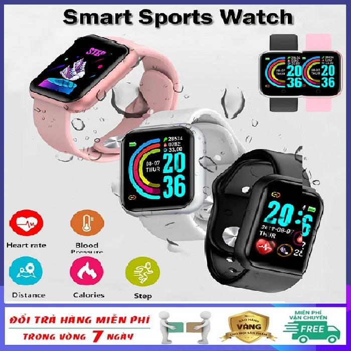 Đồng hồ thông minh kỹ thuật số giá rẻ không thấm nước nhiều chức năng theo dõi sức khỏe và hoạt động thể thao báo tin nhắn và cuộc gọi kết nối bluetooth cảm ứng Full.