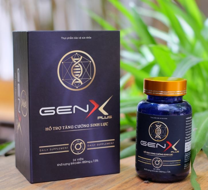 Gen X Plus - Hỗ trợ sức khoẻ sinh lý nam - Hạ chế xuất tinh sớm - Hộp 24 viên cao cấp