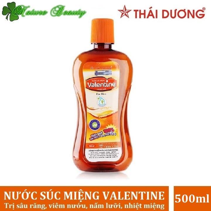 Nước súc miệng trị nhiệt miệng, hôi miệng Valentine Sao Thái Dương 500ml chính hãng
