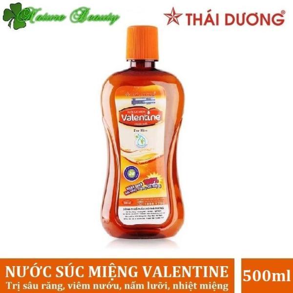 Nước súc miệng giảm nhiệt miệng, ngừa hôi miệng Valentine Sao Thái Dương 500ml giá rẻ