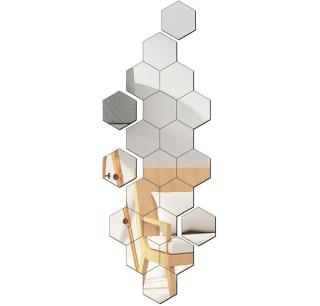 [HÀNG MỚI VỀ] Gương Dán Tường 3D Hình Lục Giác Decal Dán Tường , Gương Dẻo Dán Tường Trang Trí Tự Dính Tường Cho Phòng Khách Phòng Ngủ Gương Acrylic Dán Tường , Gương Decor Lục Giác thumbnail