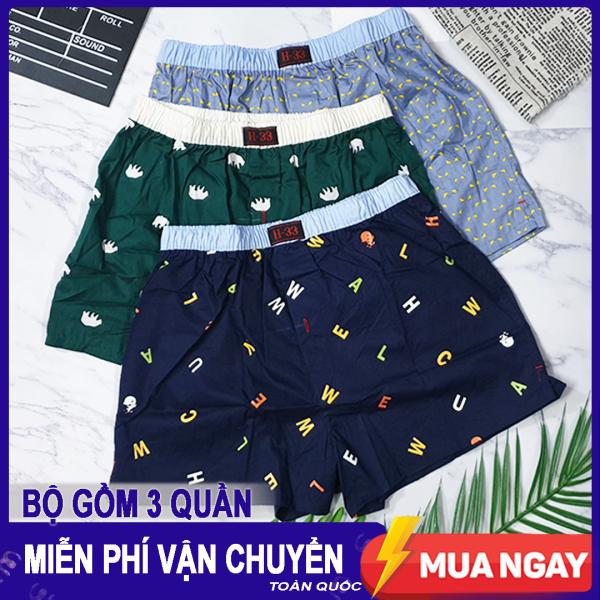 Nơi bán COMBO 3 Quần Đùi Boxer Nam H33 - Quần Ngủ Nam, Mặc nhà Cao Cấp - hàng VNXK.ZK01