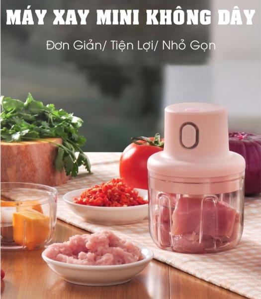 Máy xay tỏi ớt, máy xay cầm tay mini-Máy xay tỏi ớt mini, máy xay tỏi ớt bằng điện xay thịt, thức ăn, gia vị,máy xoay tỏi ớt