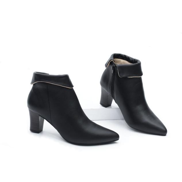 Boot Da Bò Thật Cao Gót 5cm Cổ Lật Pixie X604 giá rẻ