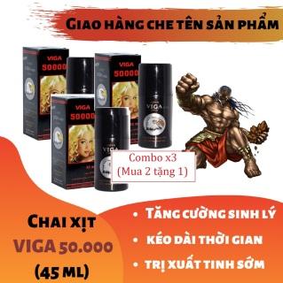 Combo x3 (Mua 2 tặng 1) Chai xịt VIGA 50000 tăng cường sinh lý cao cấp (45ml) thumbnail