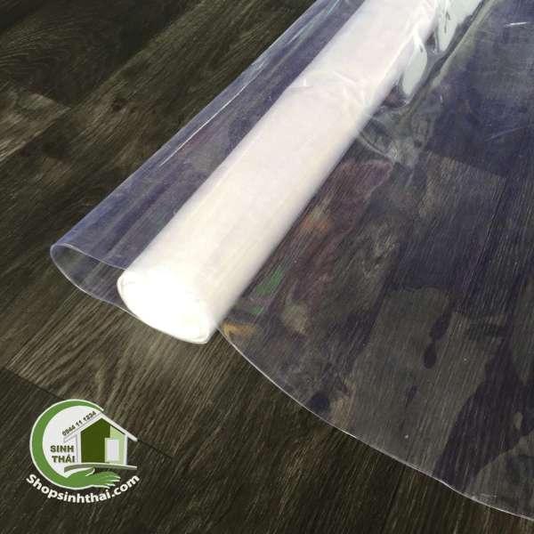 [ 1 mét ] màng nhựa dẻo trắng trong bao tập sách, làm màng che chắn cửa sổ, cầu thang - khổ 80cm