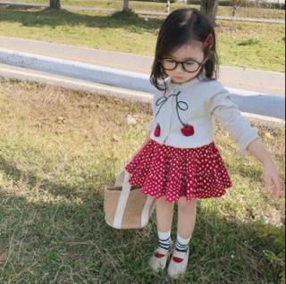 Váy thu đông hàng Quảng châu cao cấp cực xinh cho bé yêu áo len kèm chân váy vm-201
