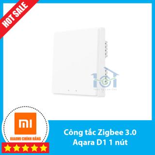 Công tắc thông minh âm tường - Aqara D1 bản mới 2020 - có đèn báo, hỗ trợ homekit, 1-2-3 nút bản Zigbee có dây N - 2200w thumbnail