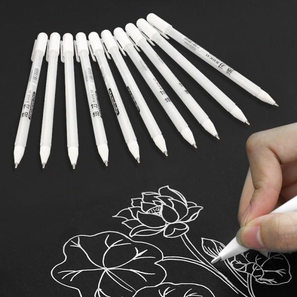 Mua Bút gel trắng Haocai , bút đi nét