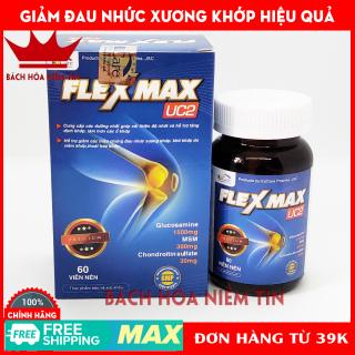 FLEXMAX UC2 - Glucosamin 1500mg - Giảm đau khớp, viêm khớp, thoái hóa cơ xương khớp, đau lưng, đau nhức khớp gối - Hộp 60 viên Chuẩn GMP thumbnail