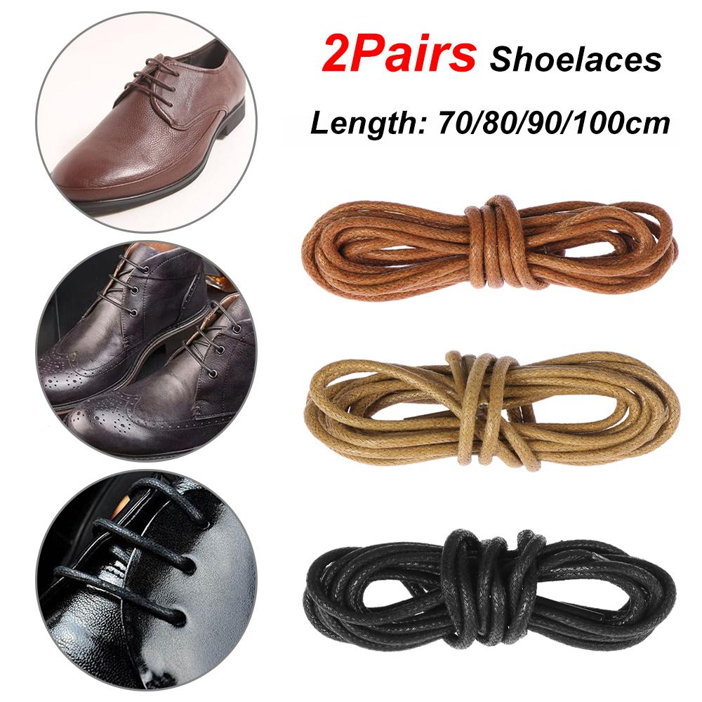 Waxed Round Shoe Laces Shoelace Bootlaces Leather Brogues Multi Color 27.6/'/'