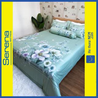 [HCM]Ga trải giường Tencel SERENA cao cấpBộ Vỏ Drap Combo Chăn Ra Gối Phủ Trải Giường Bọc Nệm Đệm SERENA Cao Cấp Mát Lạnh Hàn Quốc Bedding Set thumbnail