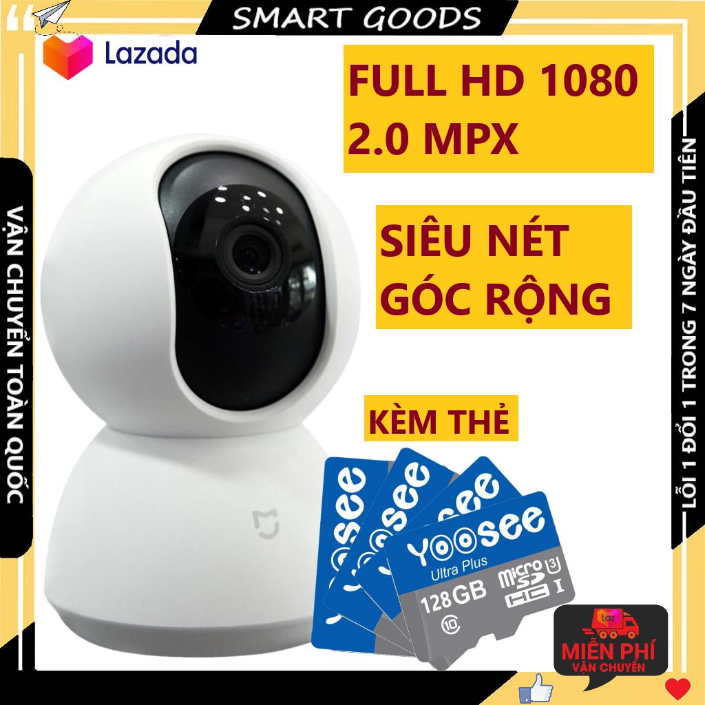 Camera Camera wifi Camera xiaomi camera xoay 360 độ kèm thẻ nhớ 64 gb hiển thị 2.0 mpx có cảnh báo chuyển động về điện thoại, bảo hành 3 năm 1 đổi 1 trong 7 ngày