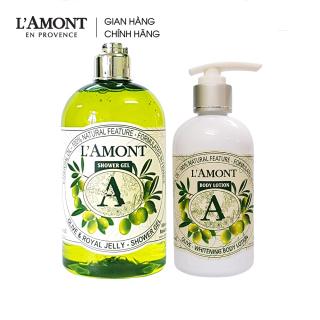 Combo Sữa tắm Olive hương ô liu 500ml và Sữa dưỡng thể Olive 250ml - L amont En Provence thumbnail