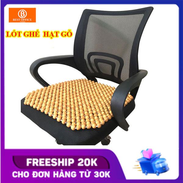 Lót ghế văn phòng - Lót ghế ô tô hạt gỗ thông - Massage thông thoáng KT 45x45 cm hạt 14 li - Chống nóng - Chống ê mỏi