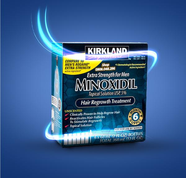 [ Expiry Date ( Hạn sử dụng )  : 12 / 2021 ]  Sản phẩm mọc râu , mọc tóc  Minoxidil 5% Kirkland USA  từ Hoa Kỳ - 1 Hộp gồm 6 Lọ ( Thuoc mọc râu , mọc tóc  Minoxidil 5% ) .